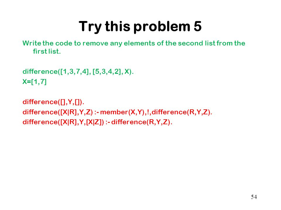 Try this problem 5