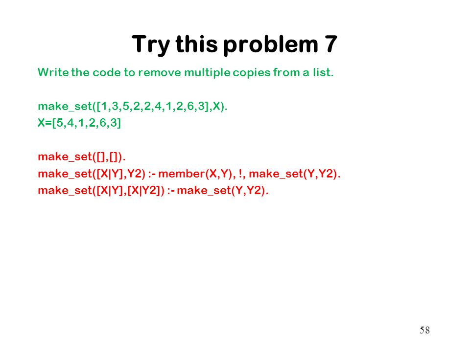 Try this problem 7