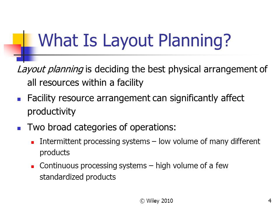 What Is Layout Planning