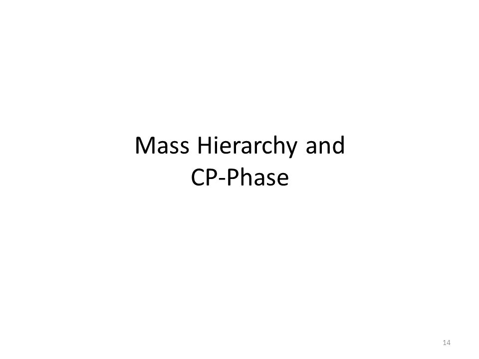 Mass Hierarchy and CP-Phase