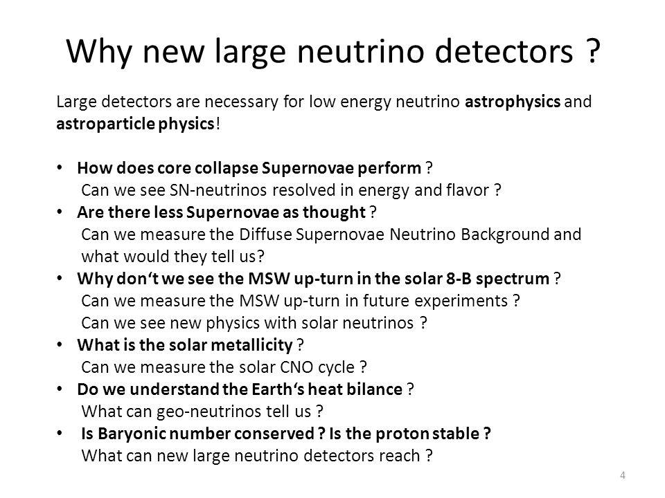 Why new large neutrino detectors