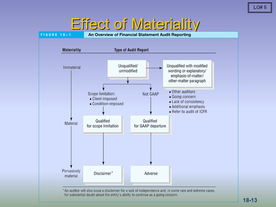LO# 5 Effect of Materiality 18-13