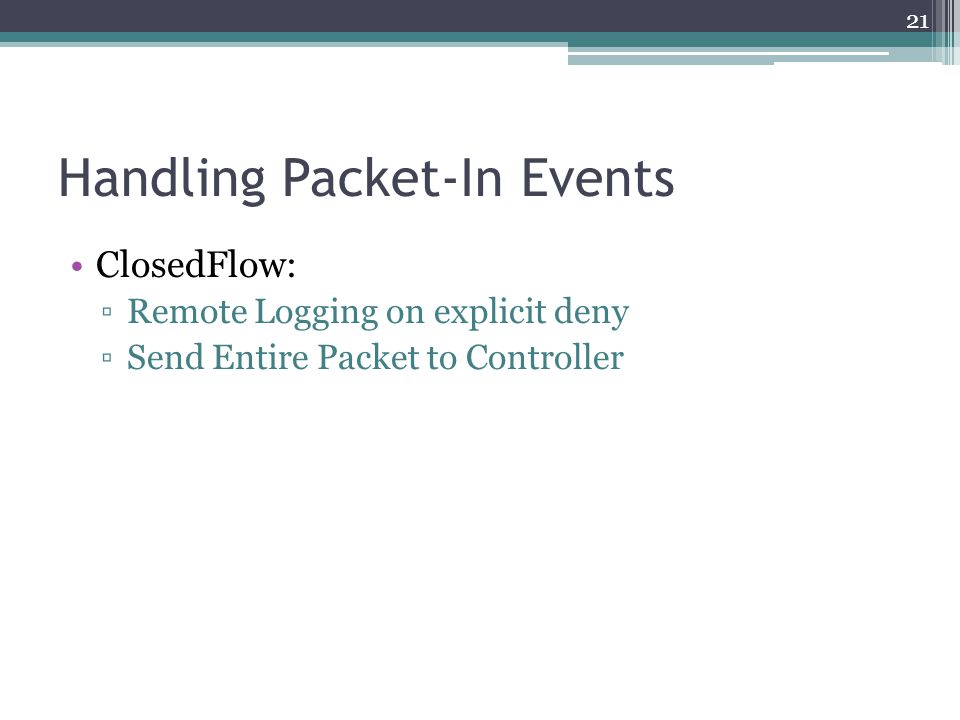 Handling Packet-In Events