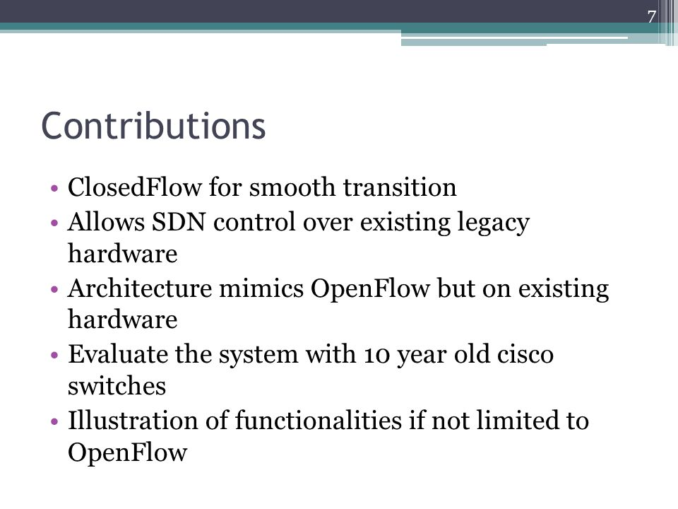 Contributions ClosedFlow for smooth transition