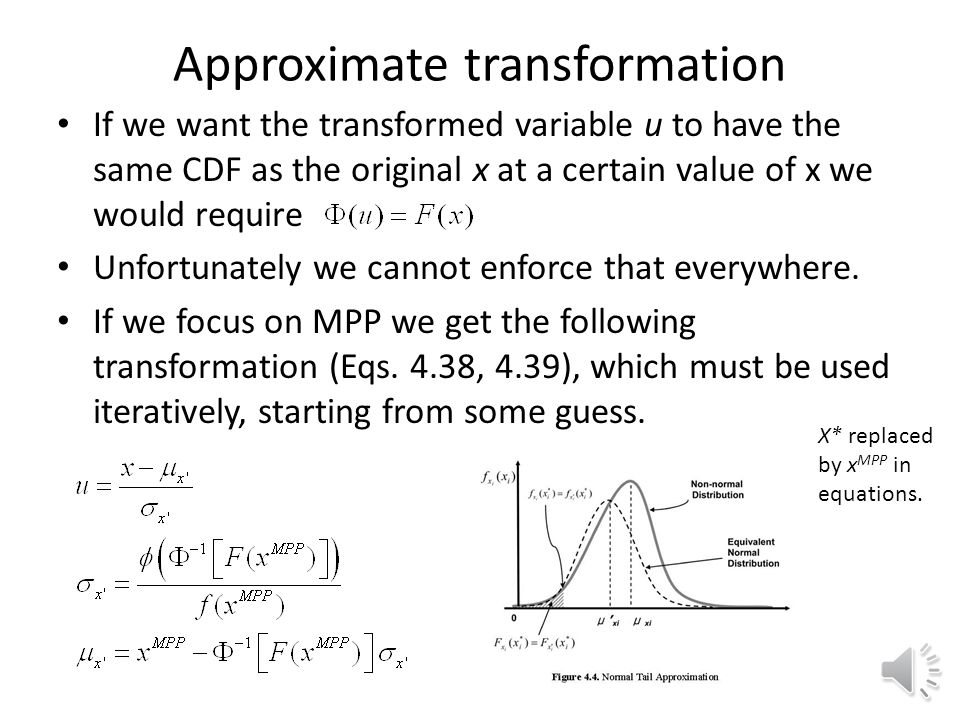 Approximate transformation