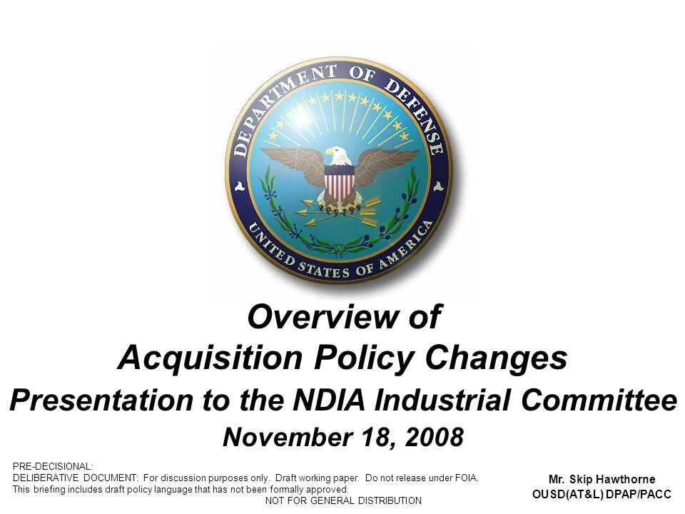 Overview of Acquisition Policy Changes