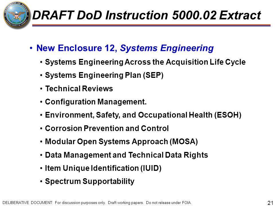 DRAFT DoD Instruction 5000.02 Extract
