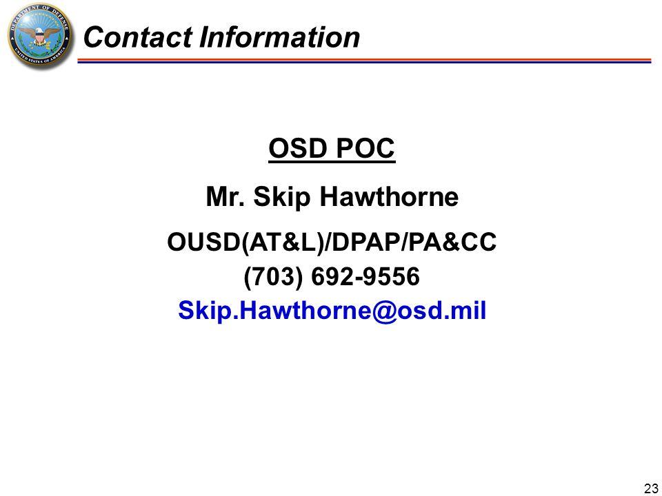 OUSD(AT&L)/DPAP/PA&CC