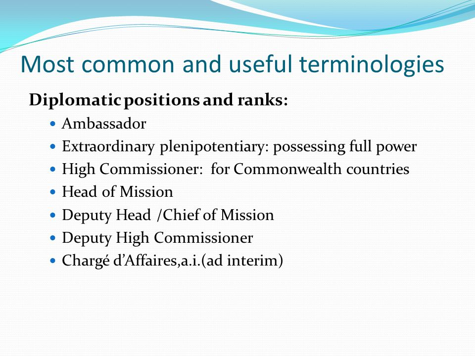 Most common and useful terminologies
