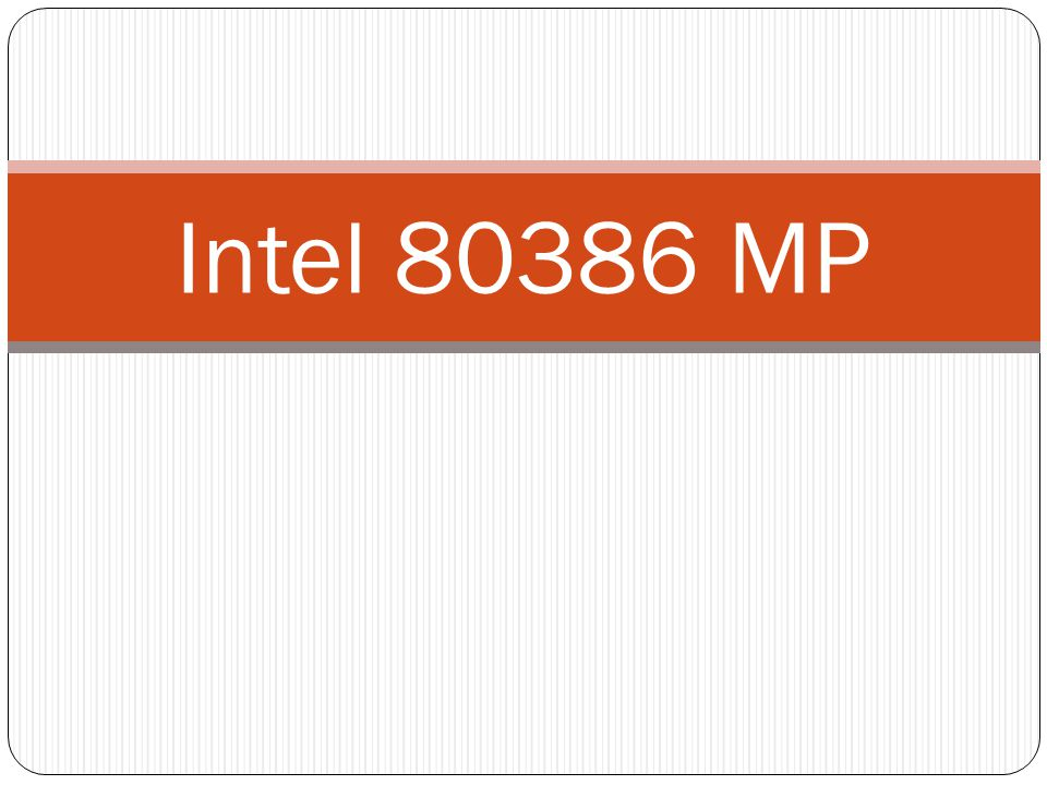 Intel 80386 MP