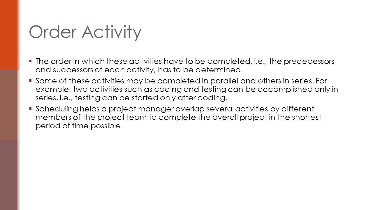 Order Activity