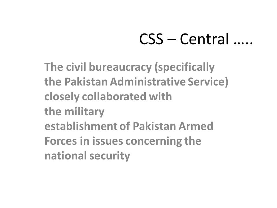 CSS – Central …..