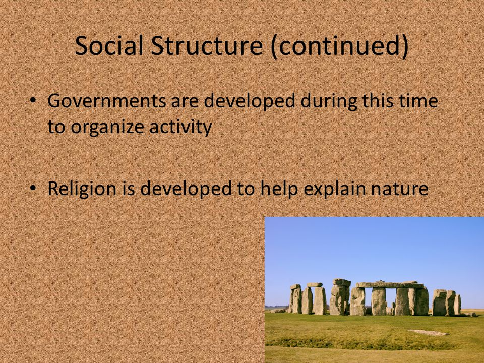 Social Structure (continued)