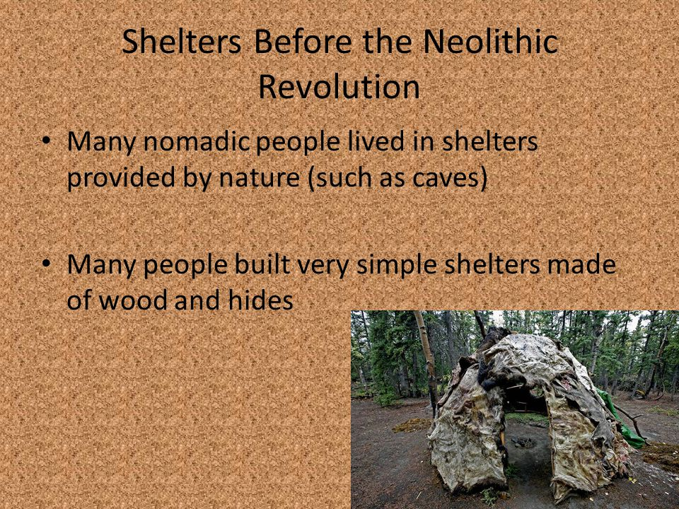 Shelters Before the Neolithic Revolution