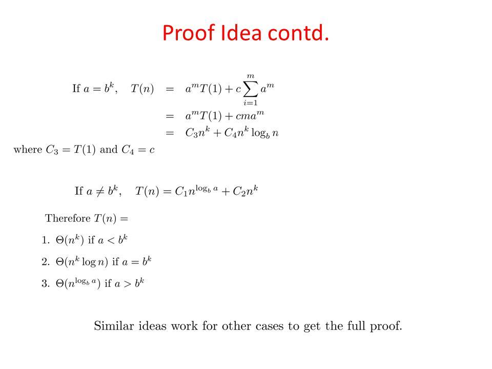 Proof Idea contd.