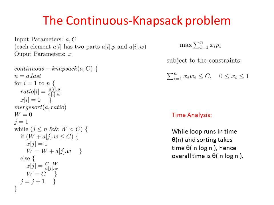 The Continuous-Knapsack problem