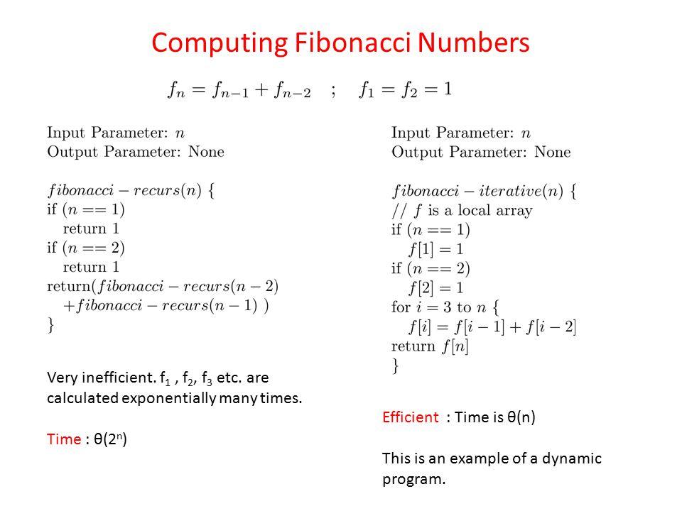 Computing Fibonacci Numbers