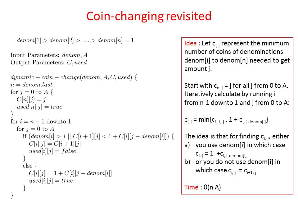 Coin-changing revisited