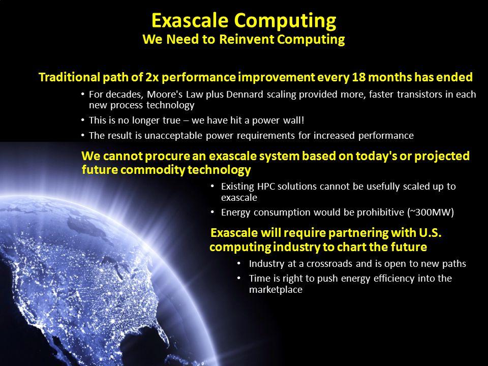 Exascale vs. Predecessor Computers