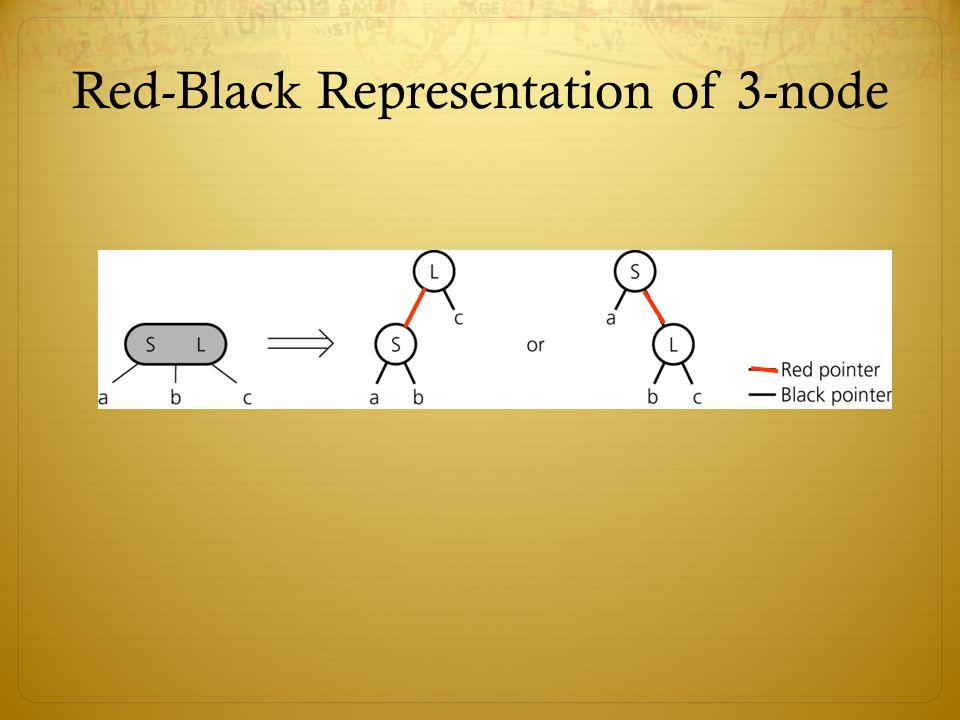 Red-Black Representation of 3-node