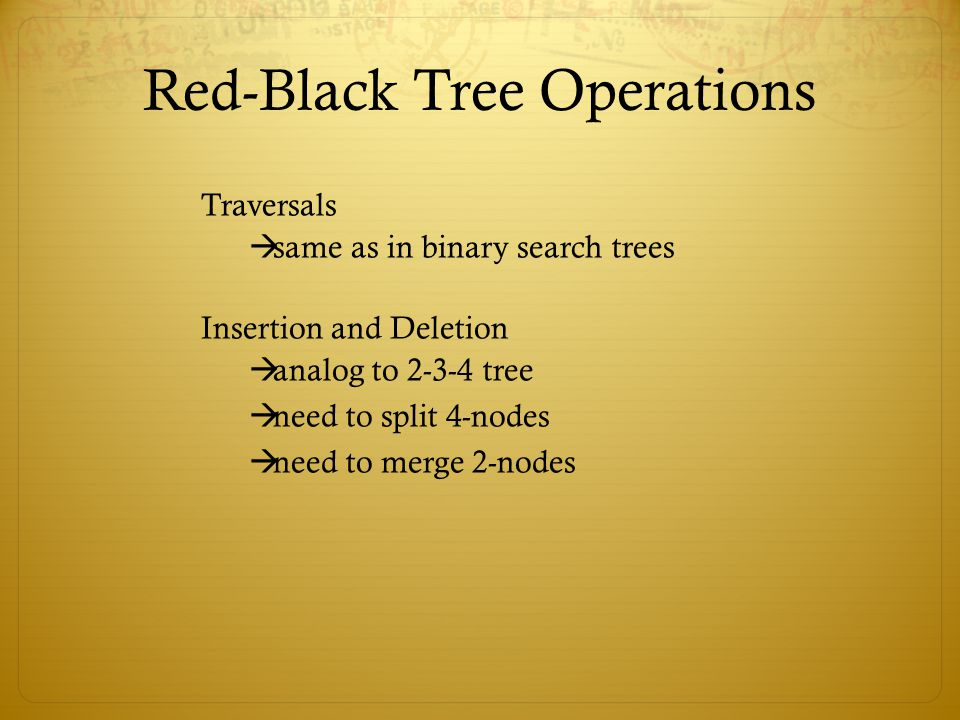 Red-Black Tree Operations