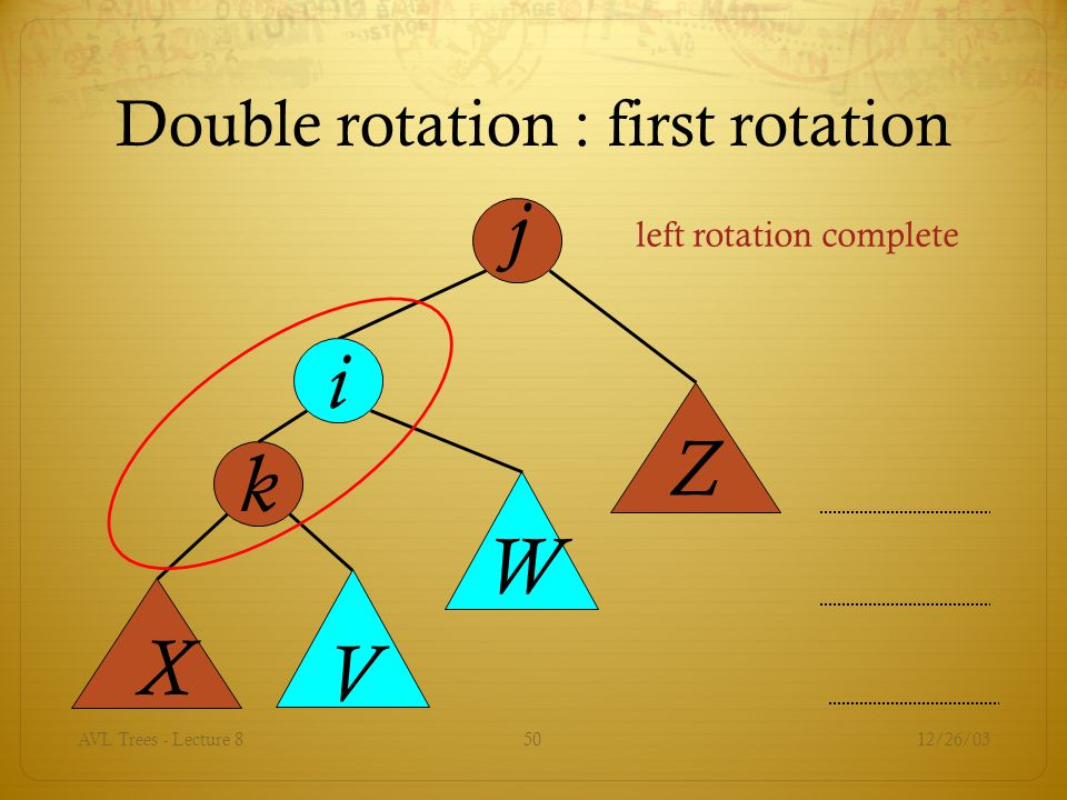 Double rotation : first rotation