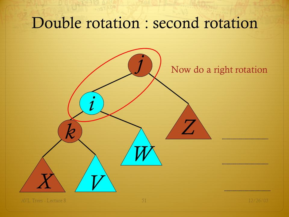 Double rotation : second rotation