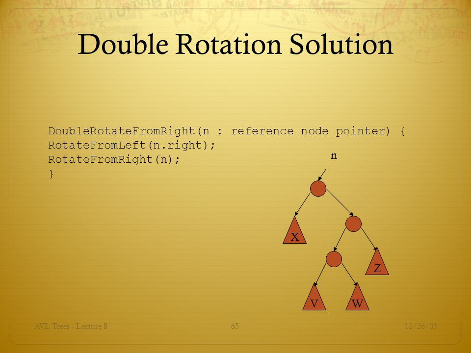 Double Rotation Solution