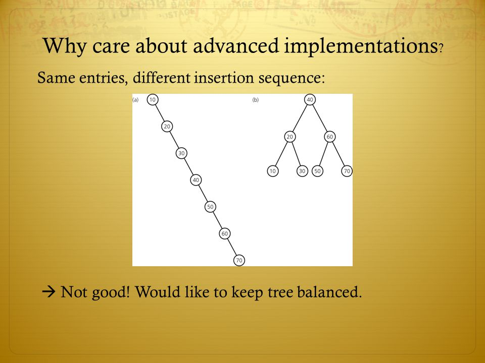 Why care about advanced implementations