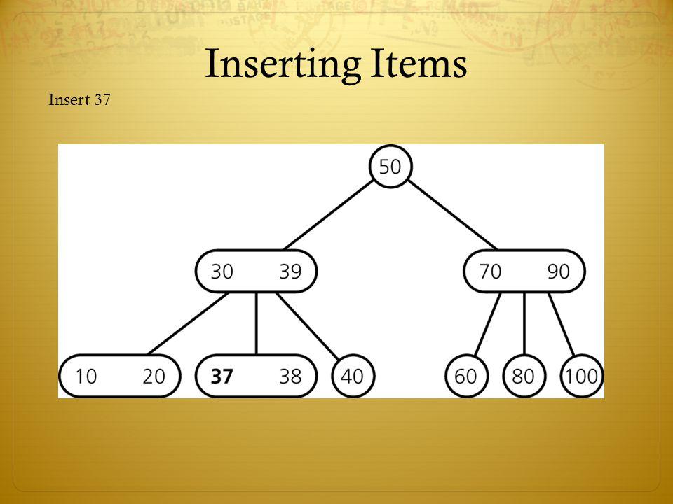 Inserting Items Insert 37