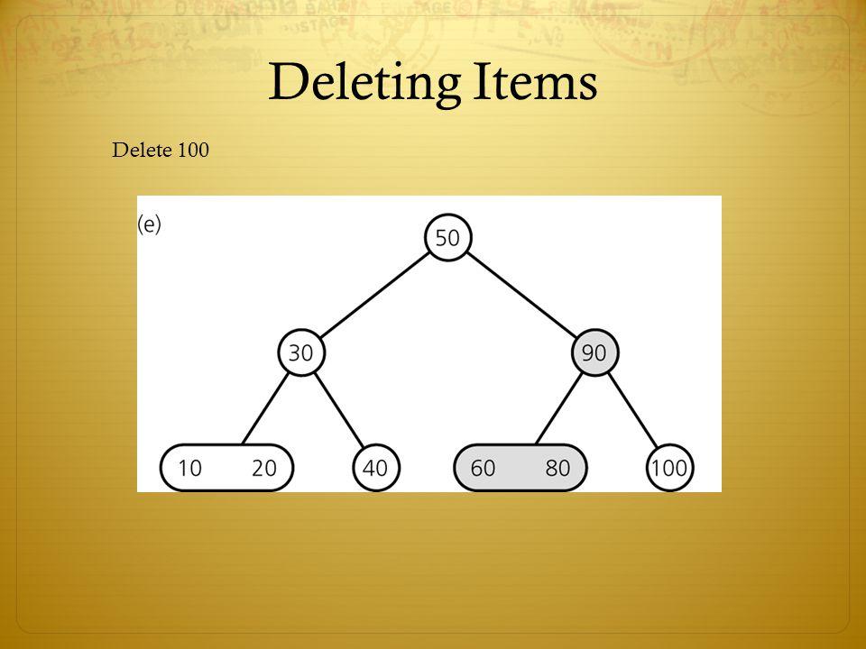 Deleting Items Delete 100