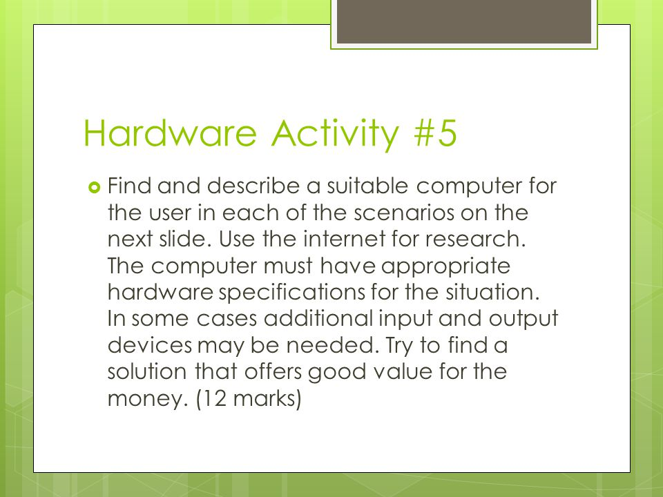 Hardware Activity #5