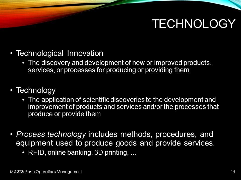 Technology Technological Innovation Technology