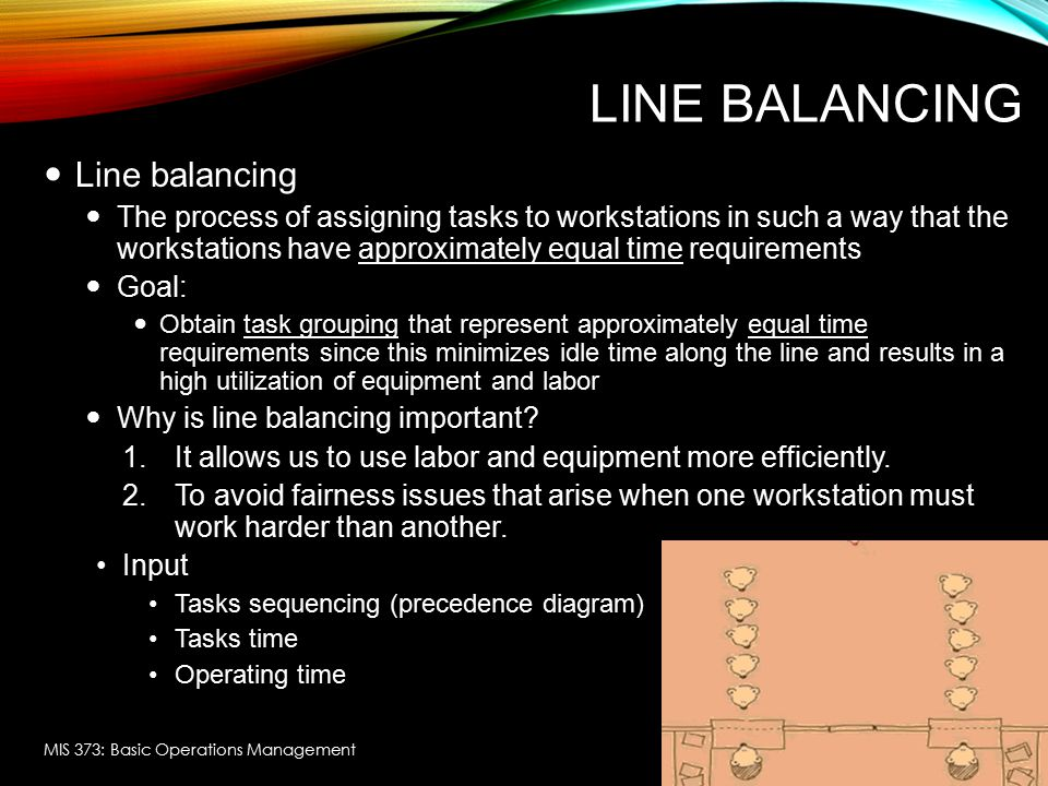 Line Balancing Line balancing