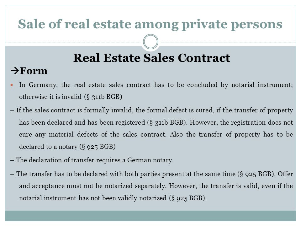 Transfer Of Property In Germany - Ppt Download