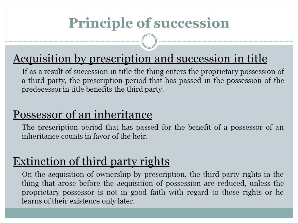Principle of succession