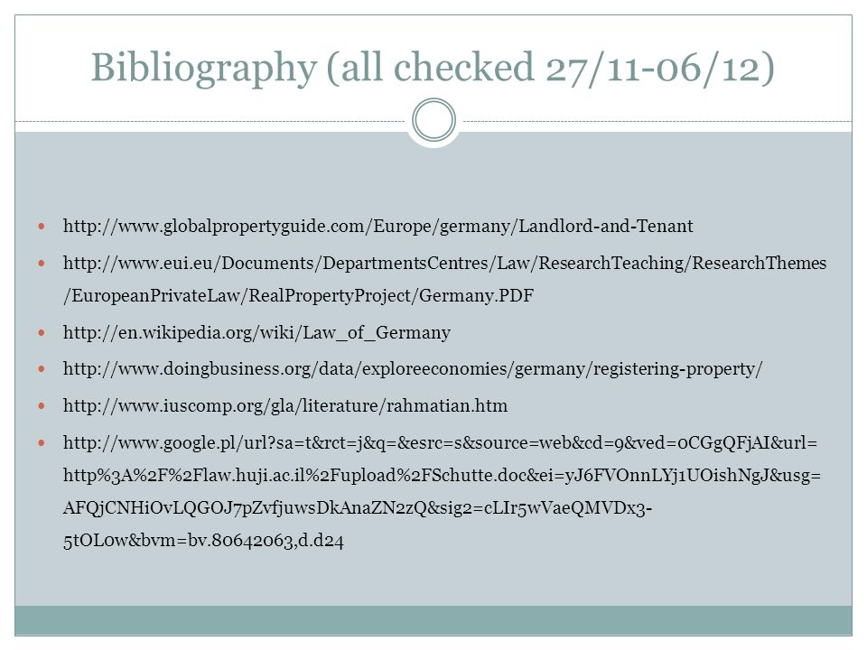 Bibliography (all checked 27/11-06/12)