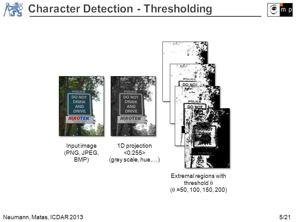 Character Detection - Thresholding