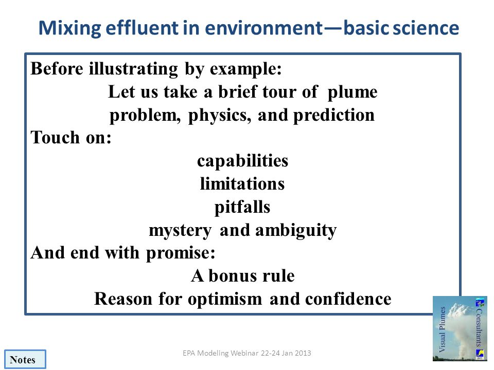 Mixing effluent in environment—basic science