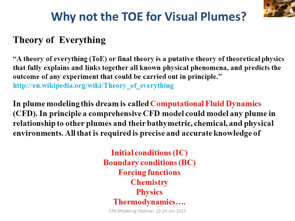 Why not the TOE for Visual Plumes