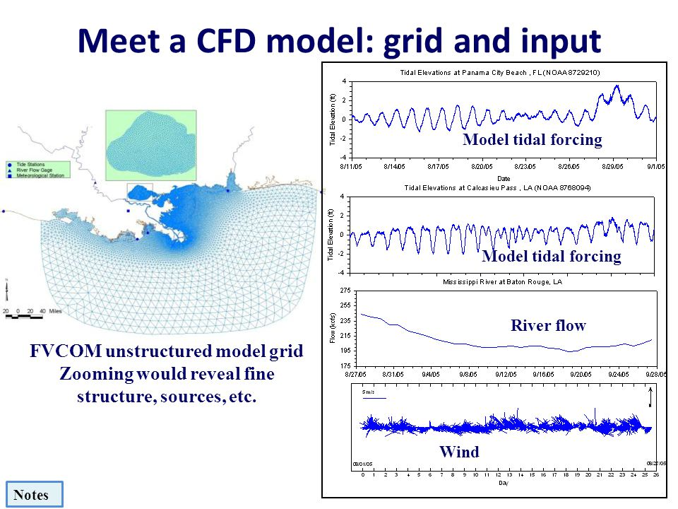 Meet a CFD model: grid and input