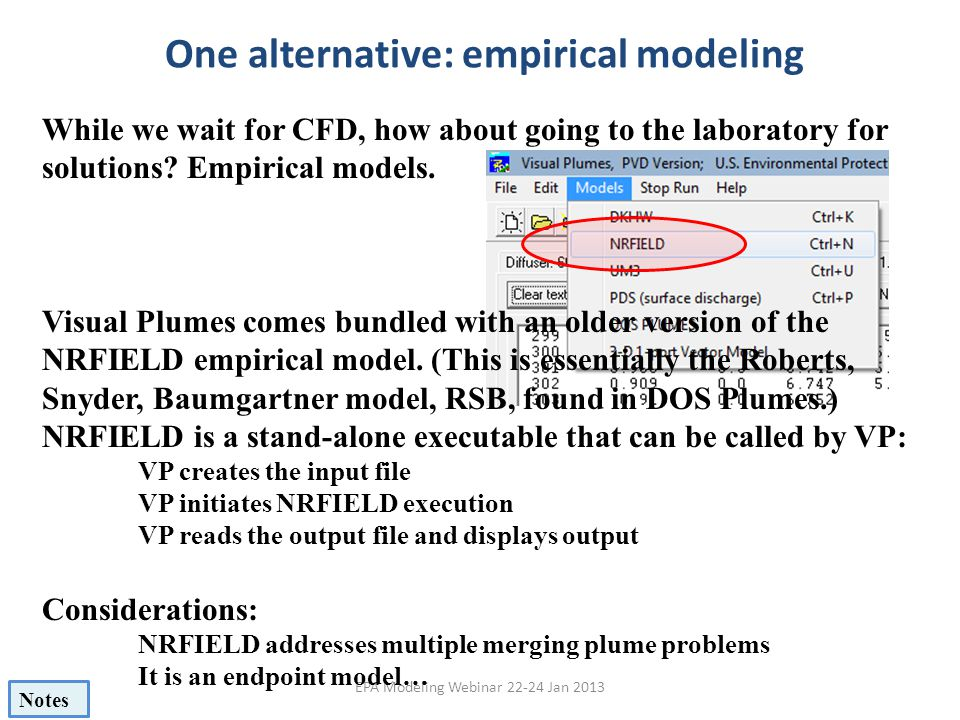 One alternative: empirical modeling