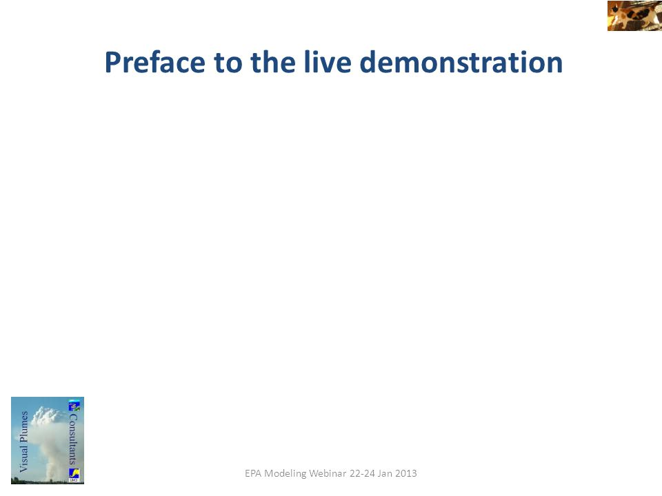 Preface to the live demonstration