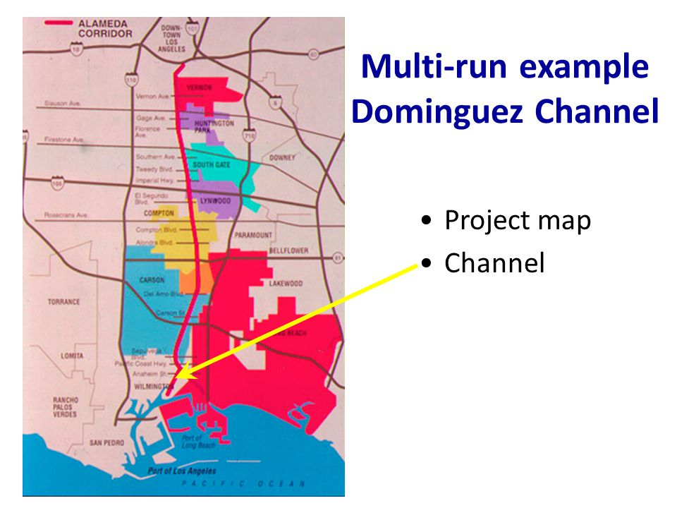 Multi-run example Dominguez Channel