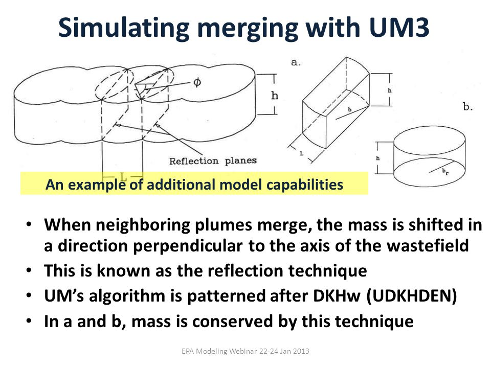 Simulating merging with UM3