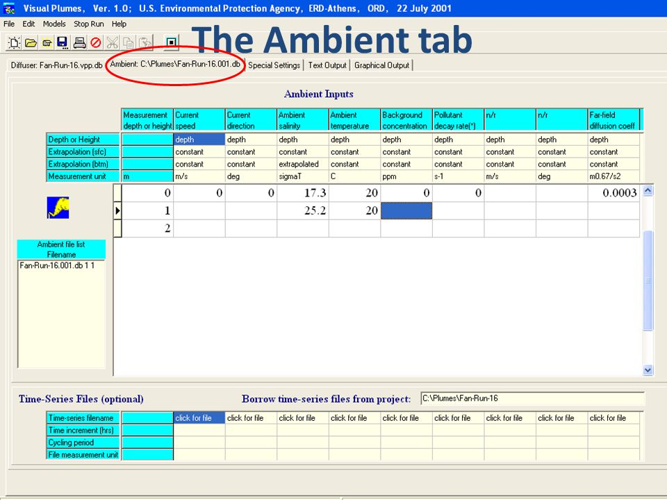 The Ambient tab