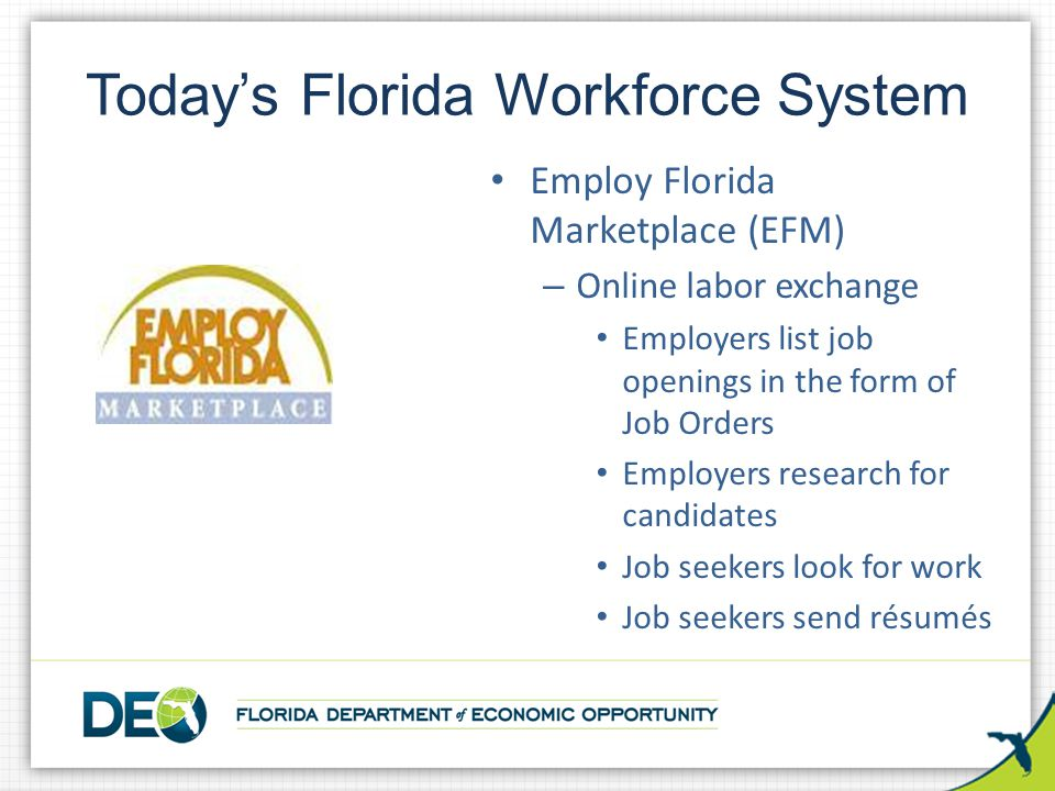 Today's Florida Workforce System