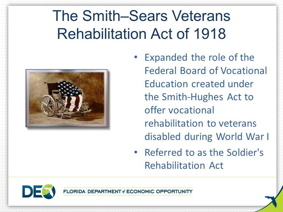 The Smith–Sears Veterans Rehabilitation Act of 1918