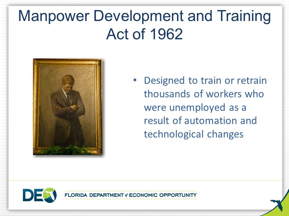 Manpower Development and Training Act of 1962
