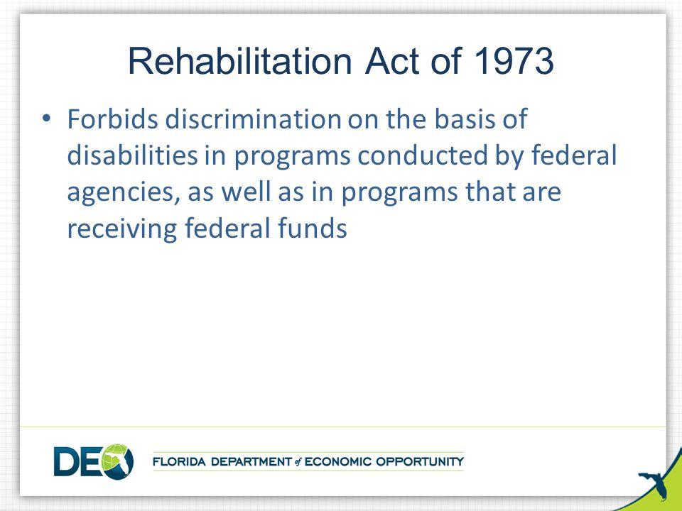 Rehabilitation Act of 1973